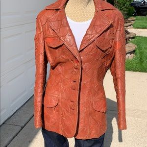 Vintage 70's patch leather blazer